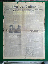 IL RESTO DEL CARLINO 5/1/1944 , Grande battaglia in Russia  Murder incorporation