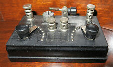 Tiny 1920s Beaver Baby Grand Crystal Radio R-21 in Rare Molded Case - WORKS!