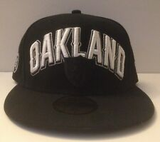 New Era 59/50 Fitted Hat - Oakland Raiders (Black/White)