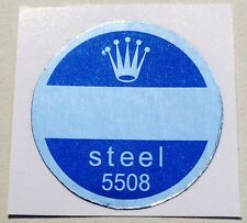 ROLEX VINTAGE Caseback Certificate Sticker 5508 Submariner James Bond Steel Blue