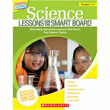 Science Lessons for Smart Board Interactive Whiteboard Lessons NEW CD GR 1 2 3
