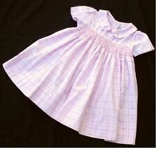 PETIT AMI 12 MOS. SMOCKED BODICE PINK CHECK S/S SPRING DRESS