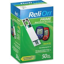 ReliOn Prime Blood Glucose Test Strips, 50-Count  (EXP : 05-2017)