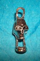 Pendant Skull Charm Day of the Dead Charm Scream Charm Halloween Charm Scary Boo