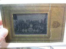 RARE - Orig  Tintype Photo - Boy Scouts Camp Band - Buffalo NY Troop 63 ca 1920