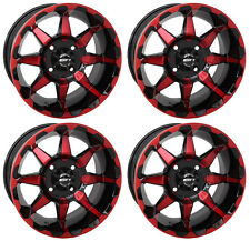 4 ATV/UTV Wheels Set 14in STI HD6 Red 4/110 5+2 IRS