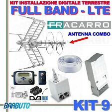 KIT 9 FRACARRO PER DIGITALE TERRESTRE FULL BAND FILTRO LTE + PUNTATORE+50MT CAVO