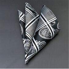 Men's Wedding Party Silk Satin Solid Floral Hanky Pocket Square Handkerchief F10