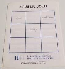 Partition sheet music EMMANUELLE : Et Si un Jour * 80's PORRY / SALESSES