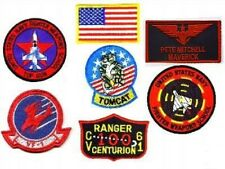 TOP GUN MAVERICK'S FLIGHT SUIT FANCY DRESS 7-PATCH SET