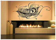 Wall Room Decor Art Vinyl Sticker Mural Decal Large Tail Peacock Feather AS1642