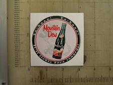 "Vintage Mountain Dew sticker decal 3"" diameter"