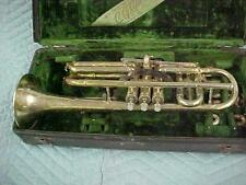 Antique Conn 80A New Wonder Cornet with Mechanism, Gold Plated!