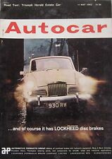 Autocar magazine 11/5/1962 featuring Triumph Herald Estate road test