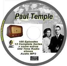 The Adventures of Paul Temple - 105 OTR Old Time Radio Episodes Audio MP3 on CD