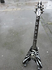 EPIPHONE ROB FLYNN FLYING V LOVE/DEATH BARITONE METAL ELECTRIC GUITAR WITH CASE.