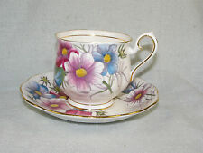 Royal Albert Flower of the Month #10 COSMOS Cup & Saucer Set
