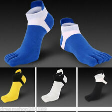 6 Pairs Men Breathe Ankle Low Cut Sock Five Finger Toe Cotton Sport Casual Socks