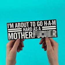 "Kanye West Jay Z Bumper sticker, ""HAM"" Watch the throne yeezus, hard as a mother"