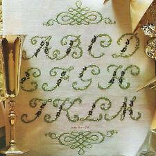 Stickvorlage * Alphabet * ABC Buchstaben Initialen Kreuzstich DMC