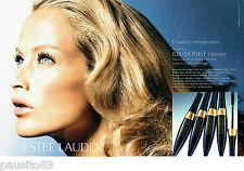 PUBLICITE ADVERTISING  046  2006  Estée Lauder  maquillage mascara (2p)