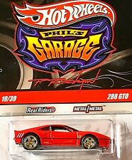 HOT WHEELS (CHASE) FERRARI 288 GTO  GARAGE REAL RIDERS 1:64 * RED