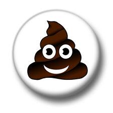 Sh*te Badge 1 Inch / 25mm Pin Button Badge Crap Rubbish Cartoon Emoji Emoticon