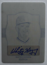 1/1 Whitey Herzog 2011 Leaf Legends of Sport Printing Plates Black Auto #BA89