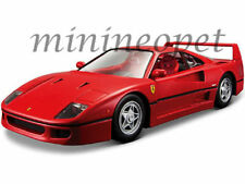 BBURAGO 18-26016 FERRARI F 40 1/24 DIECAST MODEL CAR RED