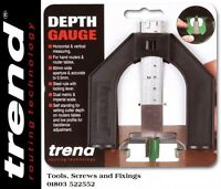 GAUGE/1 Metric & Imperial Depth Gauge for Router Saw Blade Table By Trend
