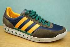 Adidas Mens Campus Size 9 UK Brown Blue Mustard  Skate Trainers Suede leather