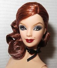 (B) NUDE BARBIE (B) ~ AUBURN JAZZ BABY CABARET PIVITOL MODEL MUSE DOLL FOR OOAK
