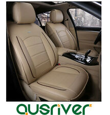 Custom Made Car Seat Cover Artico Leather Beige For Toyota Corolla Camry RAV4