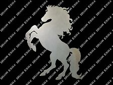 Horse Rearing Stallion Equine Farm Ranch Barn Western Metal Wall Art Gift Idea