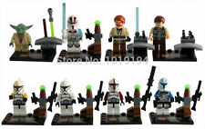 8 Pcs MINI FIGURES MINI FIGS STAR WARS FITS WITH LEGO CLONE TROOPERS YODA UK