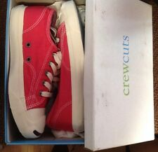 J.crew Crewcuts Red JACK PURCELL Tennis Shoes Sz K2 Youth Boys Girls