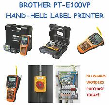 BROTHER PT-E100VP HAND-HELD LABEL PRINTER ** PURCHASE TODAY **