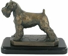 Bronze Sculpture Schnauzer Dog Statue By David Geenty