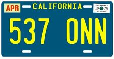 Starsky and Hutch 1975 California 537 ONN License Plate
