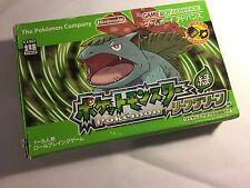 Pokemon leaf green Japanese  Game Boy Advance GBA Nintendo  -FREE SHIPPING-