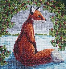 CL41 Brush with a Fox Cross Stitch Chart by Vanessa Wells