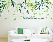 Dreams Garden Green Willow Vine Birds Tree Wall Stickers Art Decor Homes Nursery
