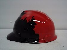 NEW  Safety Works  Black and Red Canadian Maple Leaf Pattern Hard Hat 10082233