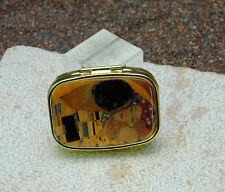 Pillenbox Pillendose mit Spiegel Gustav Klimt Kuss von Fridolin