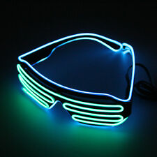 LED Light Up Sunglasses Shades Flashing Blink Glow Glasses Party Rave 25 Colors