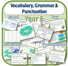 YEAR 6 VOCABULARY GRAMMAR AND PUNCTUATION Pack - Primary teaching resources CD