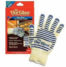 Ove Glove Heavy Duty Oven Glove Washable with Non-slip Silicone Grip Blue solid