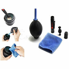 Lens Cleaning Cleaner Dust Pen Blower Cloth Kit for DSLR VCR Camera Canon 3 in 1
