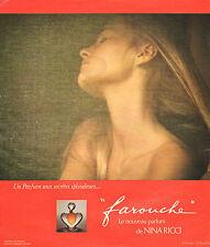 """Publicité Advertising 1976  Parfum """"farouche"""" de NINA RICCI"""