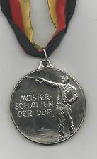 Orig.Silbermedaille   DDR Meisterschaft im Schießen 1976 / am Band  !!  RARITÄT